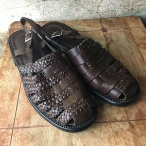 Cole Haan Braided Brown Leather Sandals Size 8 B